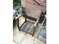 Wooden chair frame - perfect for a restoration project