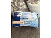 Tena Comfort Pads 42 in each pack RRP £12.00 each pack ... no longer needed so £3.99 a pack ...