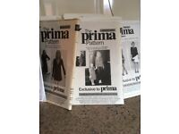 Unused Prima Sewing Patterns