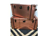 Bed Chest / Trunk with Straps - Brass Effect - RRP £449