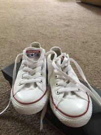 Girls white converse pump size 13