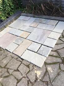 Natural paving flagstones