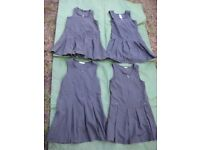 Four Grey School Pleated Dresses - £3.00 Each or 4 for £10.00