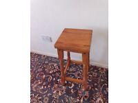 Wooden kitchen stool