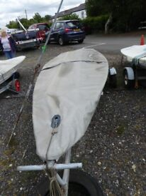 Laser Sailing Dinghy Complete With Combination Trailer (Road base & Launching Trolley) Ready to sail