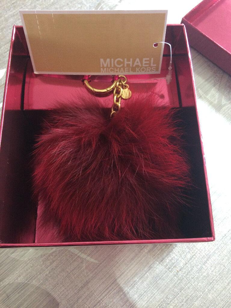 Michael Kors Cherry Fur Handbag Charm