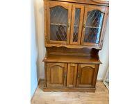 Pine display dresser