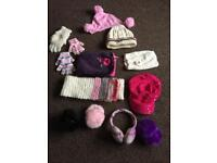 Girls gloves/hat/scarf/ear muffs