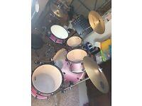 Premier Cabria Drum Kit Pink