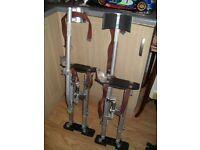 "24 - 40"" Aluminium Painter Painting Drywall Stilts Double Adjustment Springs"