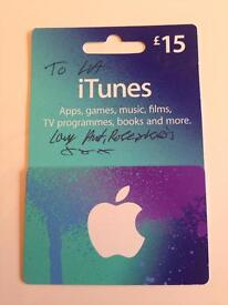 iTunes Vouchers £15 and £25