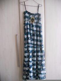 Sheared chiffon maxi dress size 12-14 BNWT from Rage