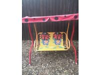 Children's garden swinging seat