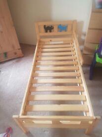 Single kids bed frame.