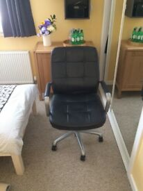 Black Leather John Lewis Office Chair
