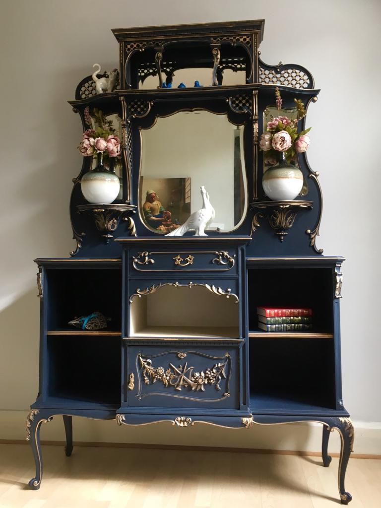 Unique Antique Dresser With Mirrors Hand Painted In Kingston