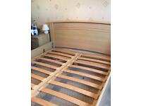 King size pine bed frame