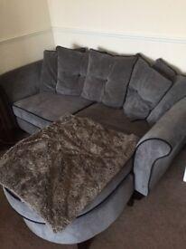 Corner grey sofa - for quick sale