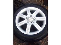 Seat leon genuine alloys 4 x tyres can fit leon,ibiza,golf,a3,citron Genuine & CHEAP