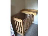 Mamas and Papas cot with cot top changer