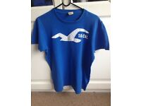 BLUE HOLLISTER T-SHIRT IN GOOD CONDITION (SIZE SMALL)