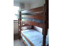 Pine Bunk beds 3ft