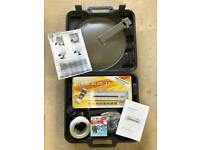 Portable Satellite Dish and Receiver Kit