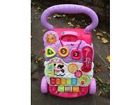 As new girls vtech baby walker superb condition