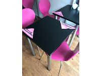 Black with chrome Cafe tables