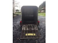 Ifor Williams 8x4ft plant and/or stock trailer with aluminium canopy top, twin axle