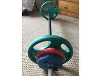 Bodymax radial studio weights set, barbell and dumbells RELISTED