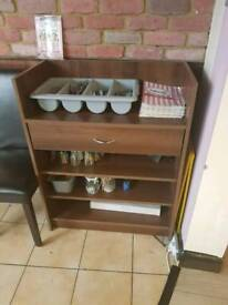 Walnut Dumbwaiter for restaurant or cafe