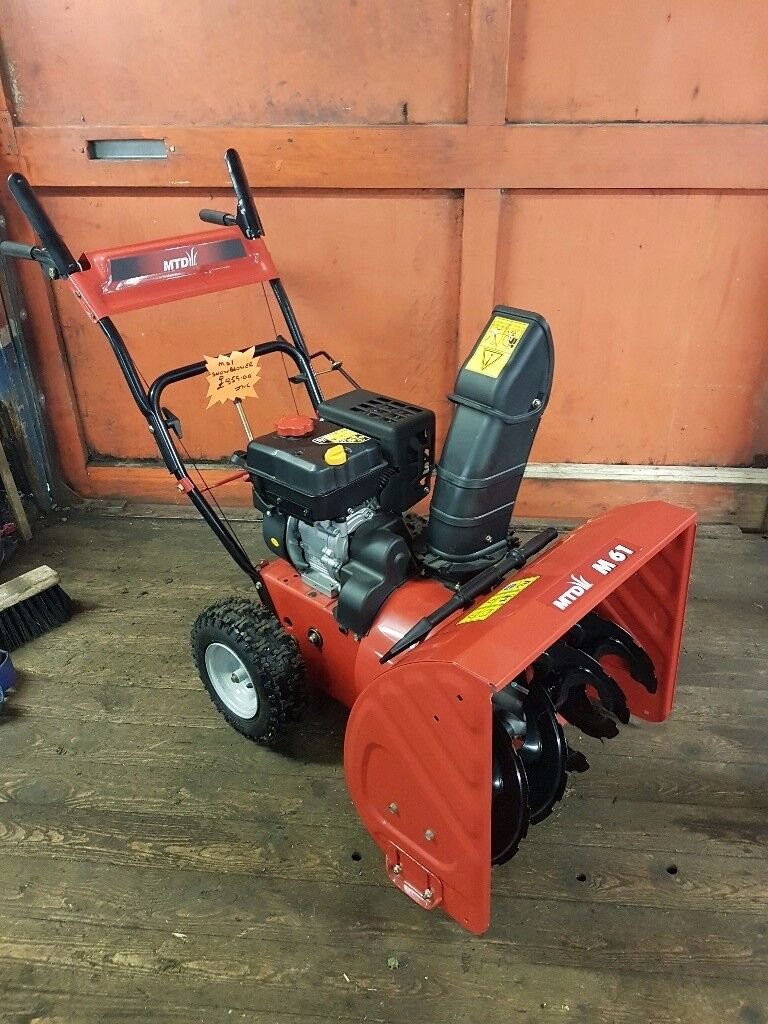 Brand-New MTD M61 Petrol Powered 2 Stage Snow Blower / Snow Thrower Was £859