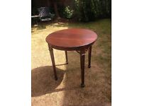 Tall brown table