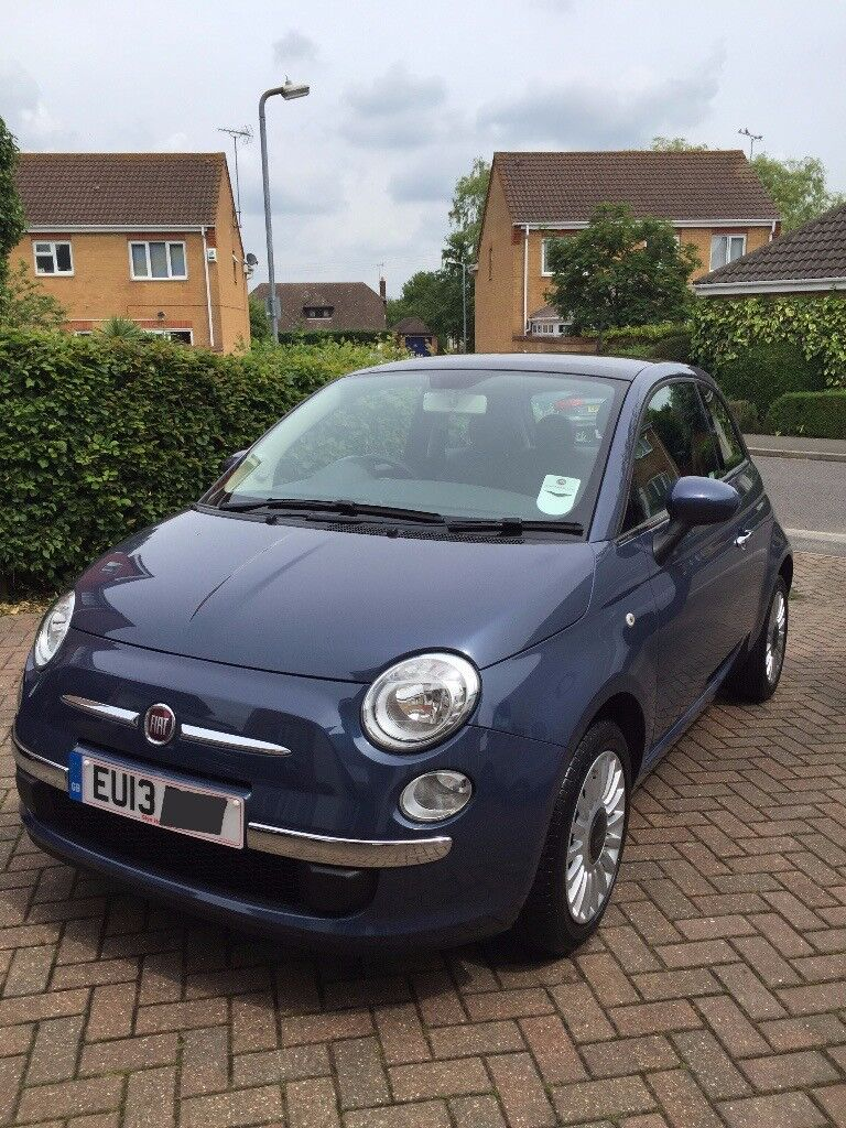 Fiat 500 Lounge 2013 Footloose Blue, Panoramic Sunroof
