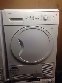 BEKO 8KG CONDENSER SENSOR DRYER B ENERGY RATING WHITE RECONDITIONED