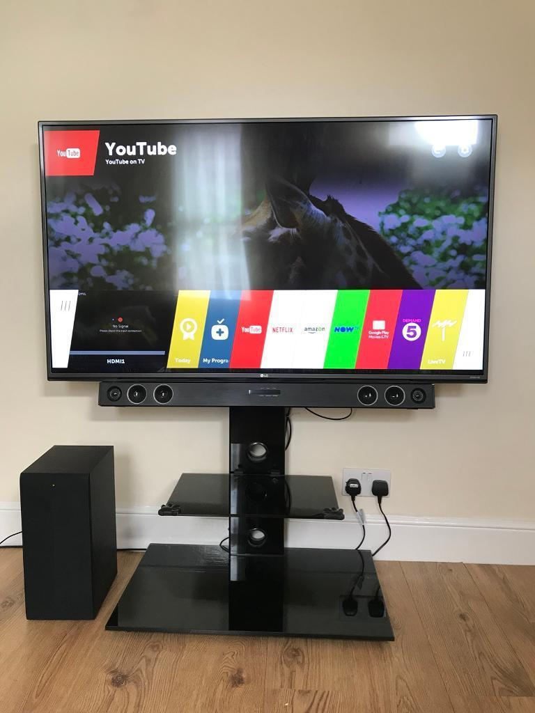 lg tv with soundbar. lg 55\u201d smart 4k uhd tv and 300w soundbar home entertainment system lg tv with
