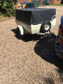 Camping trailer specially built for camping offers welcome