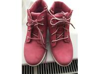 Timberland pink girls boots size 11 toddler brand new
