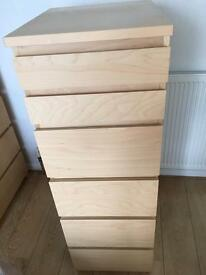 Malm set of 6 drawer