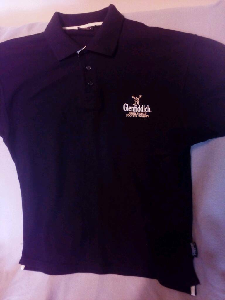 polo shirt, large Glenfiddich logo
