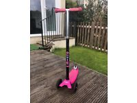 Black and pink micro scooter