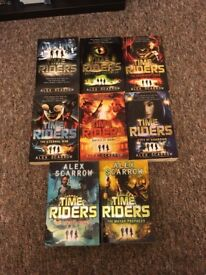 Time Riders books from 1-8