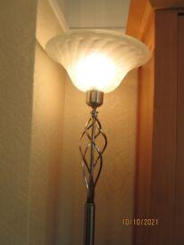 Lamp freestanding electric column light