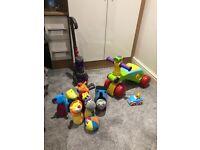 Dyson Toy, little tikes push & go lion car, soft animal skittles, talking Thomas the tank plush toy