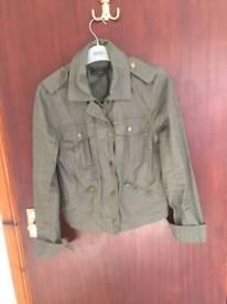 Khaki jacket new look size 8