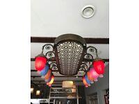 10 arm brass chandelier used ideal for restaurants read the description please