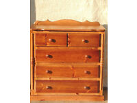 Chest of Drawers Pine wood throughout (Delivery)