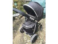 Kiddicare IMAX elite pushchair complete with accessories (footmuff, rain cover and adaptors)