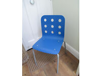 Blue Ikea Jules chair